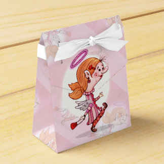 LULU ANGEL CARTOON Tent with Ribbon Favor Box