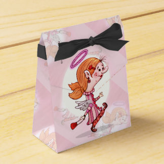 LULU ANGEL CARTOON Tent with Ribbon Favor Box B
