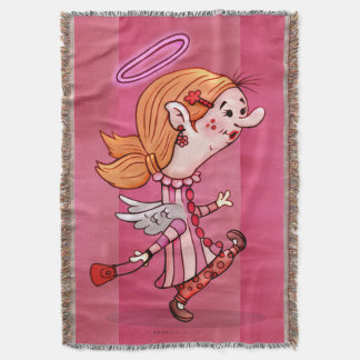 LULU ANGEL CARTOON Throw Blanket
