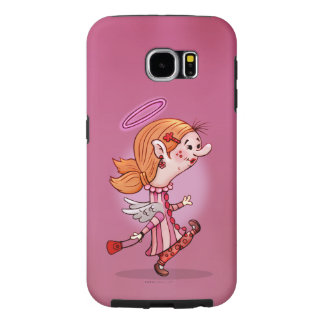 LULU ANGEL CUTE CARTOON Samsung Galaxy S6  TOUGH Samsung Galaxy S6 Cases