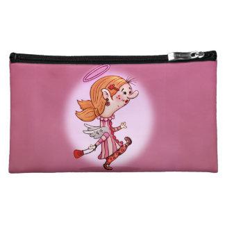 LULU ANGEL FAIRIE Sueded Medium Cosmetic Bag