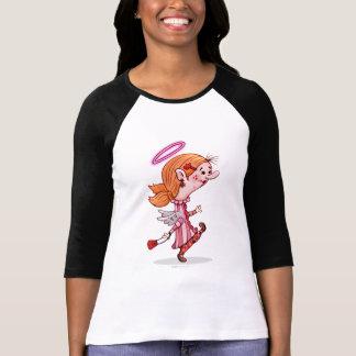 LULU ANGEL SPORT SHIRT, Women's Bella+Canvas 3/4 S T-Shirt