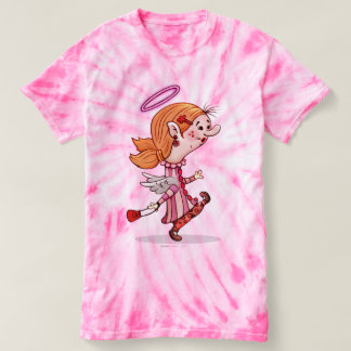 LULU ANGEL SPORT SHIRT, Women's Cyclone Tie-Dye T- T-shirt