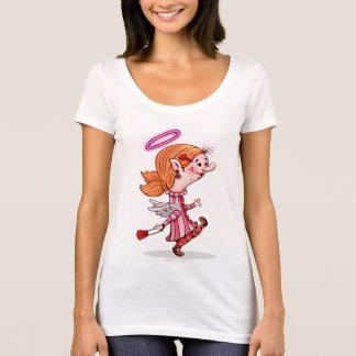 LULU ANGEL SPORT SHIRT, Women's Next Level Scoop N T-Shirt