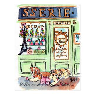 Lulu & Bella go to Paris postcard