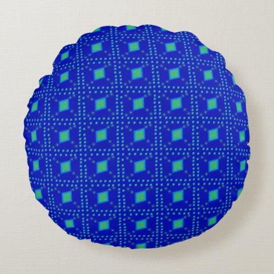 Lulu blue round pillow