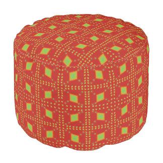 Lulu red pouf