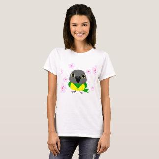 Lulu Senegal Parrot with cherry blossoms sakura T-Shirt