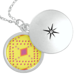 Lulu yellow locket necklace