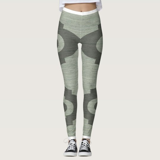 Lulus Legs Green and Grey Leggings