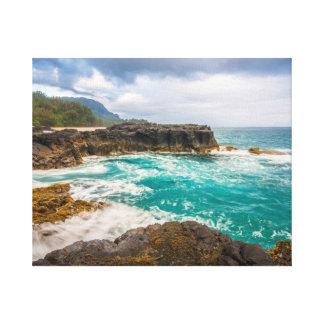 Lumaha'i Beach, Kauai, Hawaiian Photograph Canvas Print