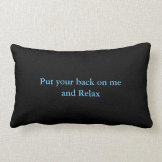 Lumbar cushion is leaned in me - Black