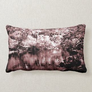 Lumbar Pillow - Autumn Stream - Brown Halftone