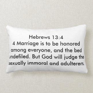 Lumbar Pillow Hebrews 13:4