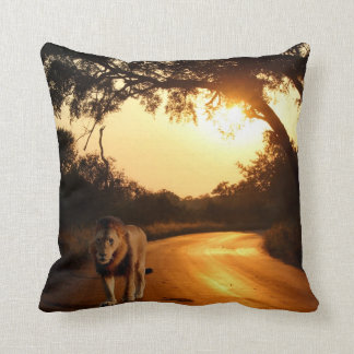 Lumbar Pillow - Lion on the Road