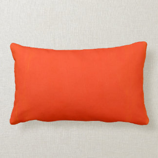 Lumbar Pillow that is Orange.
