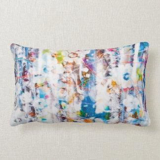 Lumbar pillow with splash of colors