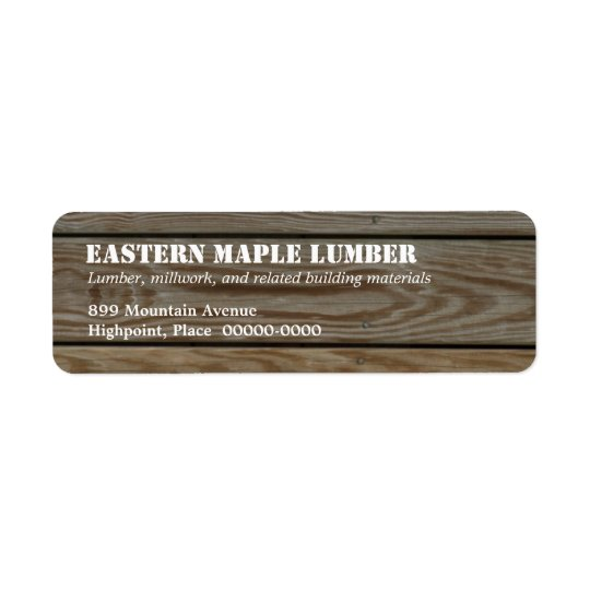 Lumber Return Address Label