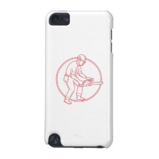 Lumberjack Arborist Chainsaw Circle Mono Line iPod Touch (5th Generation) Cover