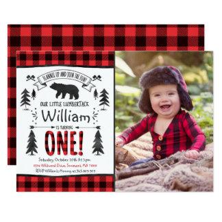 Lumberjack Birthday Invitation Lumberjack Party