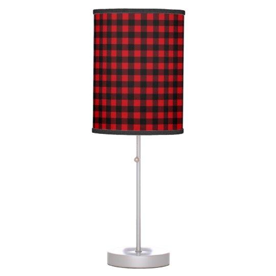 Lumberjack Buffalo Plaid Boho Rustic Cabin Table Lamp