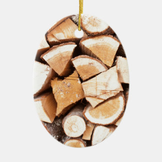 Lumberjack Ceramic Ornament