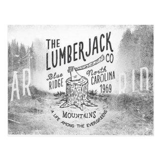 LumberJack Forest Mountain North Carolina Postcard