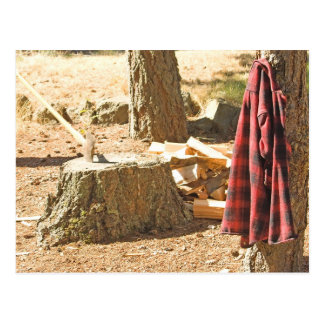 Lumberjack Life Postcard