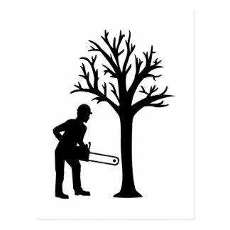Lumberjack logger postcard