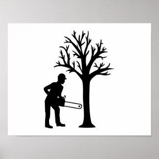 Lumberjack logger poster