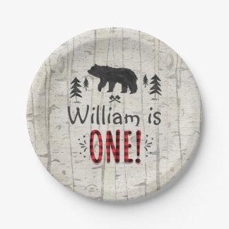 "Lumberjack Paper Plate 7"" Paper Plate"