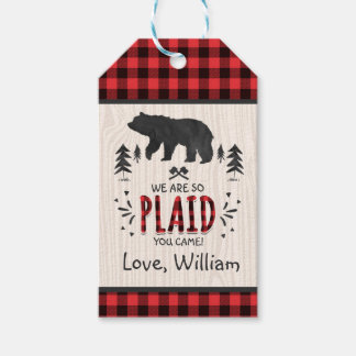 Lumberjack Party Favour Thank You Tag