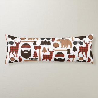 Lumberjack Pattern Body Pillow