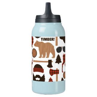 Lumberjack Pattern Insulated Water Bottle