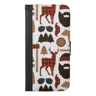 Lumberjack Pattern iPhone 6/6s Plus Wallet Case