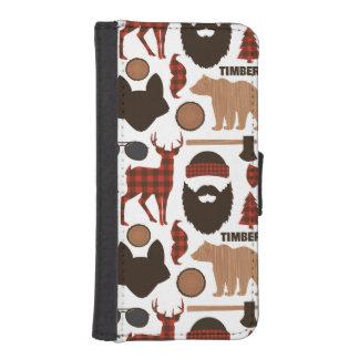 Lumberjack Pattern iPhone SE/5/5s Wallet Case