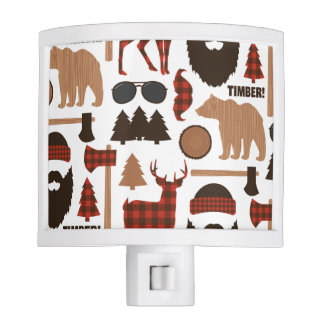 Lumberjack Pattern Night Lite