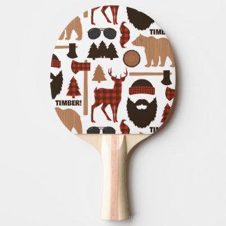 Lumberjack Pattern Ping Pong Paddle