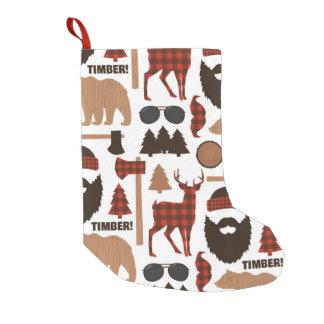 Lumberjack Pattern Small Christmas Stocking