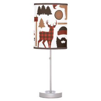 Lumberjack Pattern Table Lamp