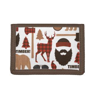 Lumberjack Pattern Tri-fold Wallet