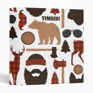 Lumberjack Pattern Vinyl Binders