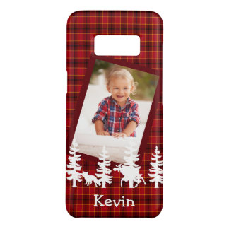 Lumberjack photo red plaid wildlife silhouhettes Case-Mate samsung galaxy s8 case