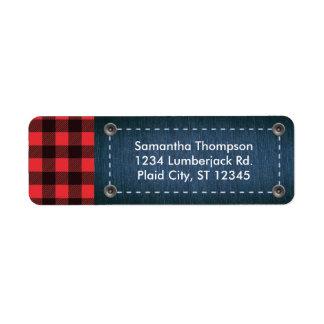 Lumberjack Plaid and Jean Address Label