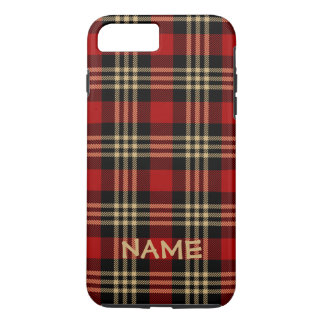 Lumberjack Plaid Pattern Custom Name iPhone 7 Plus Case