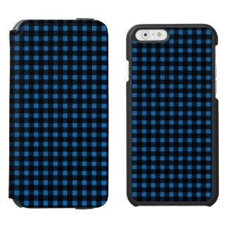 Lumberjack Print Blue Black Winter Buffalo Plaid Incipio Watson™ iPhone 6 Wallet Case