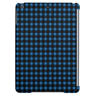 Lumberjack Print Blue Black Winter Buffalo Plaid iPad Air Case