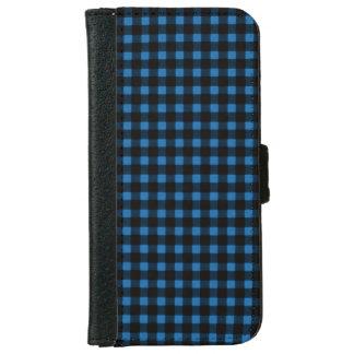 Lumberjack Print Blue Black Winter Buffalo Plaid iPhone 6 Wallet Case