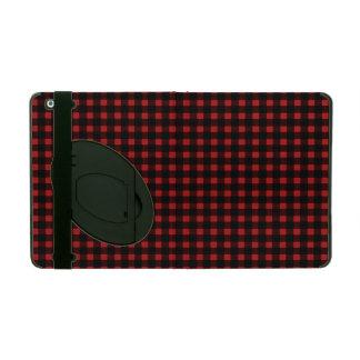 Lumberjack Print Red Black Winter Buffalo Plaid Covers For iPad