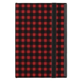 Lumberjack Print Red Black Winter Buffalo Plaid iPad Mini Covers